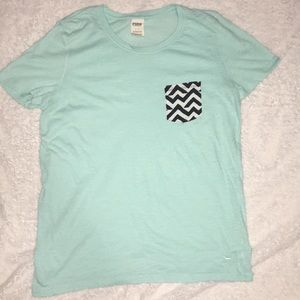Pink Victoria's Secret Pocket T-shirt